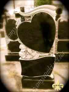 изделия из гранита в форме сердца